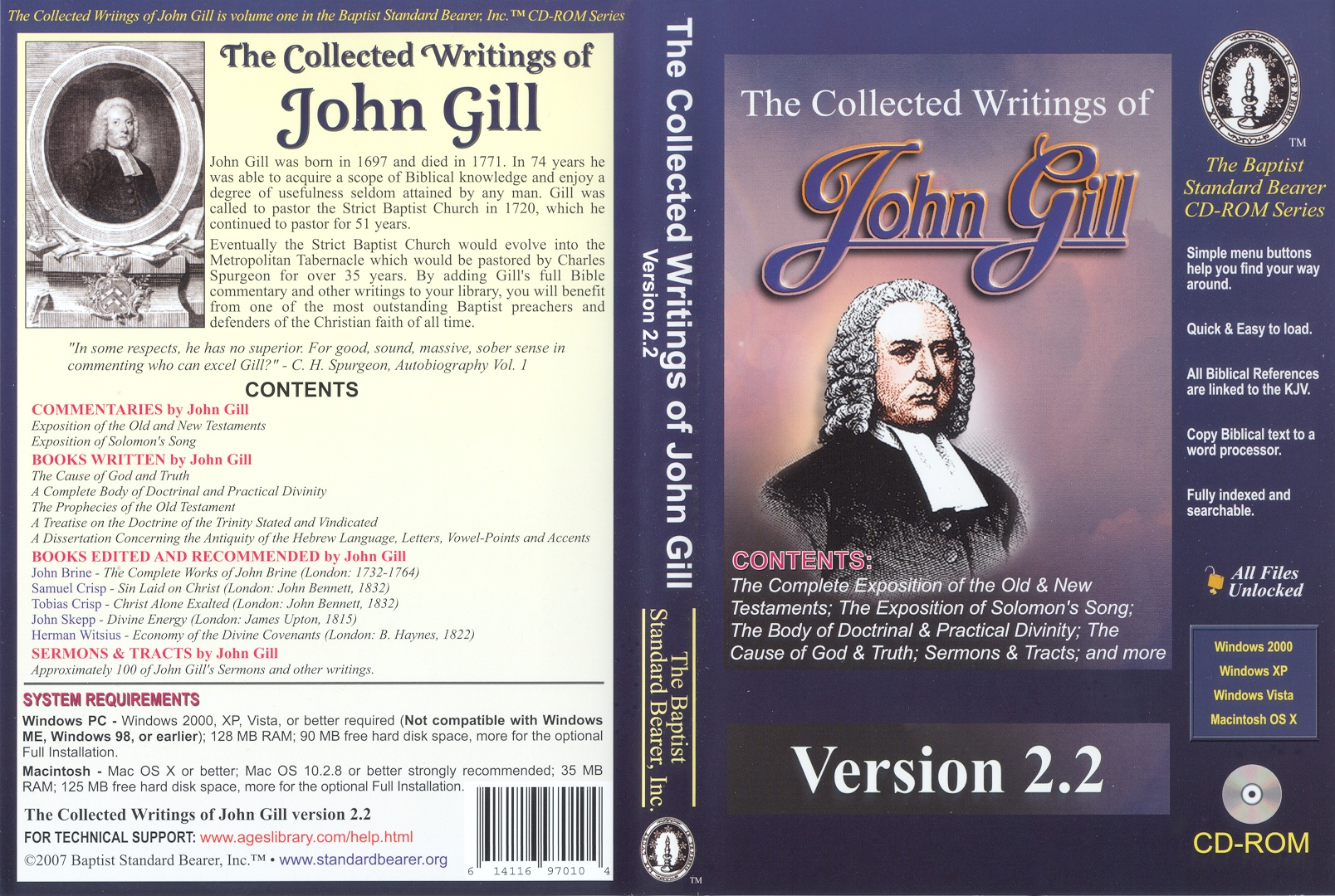 The Collected Writings of John Gill (CD-ROM)